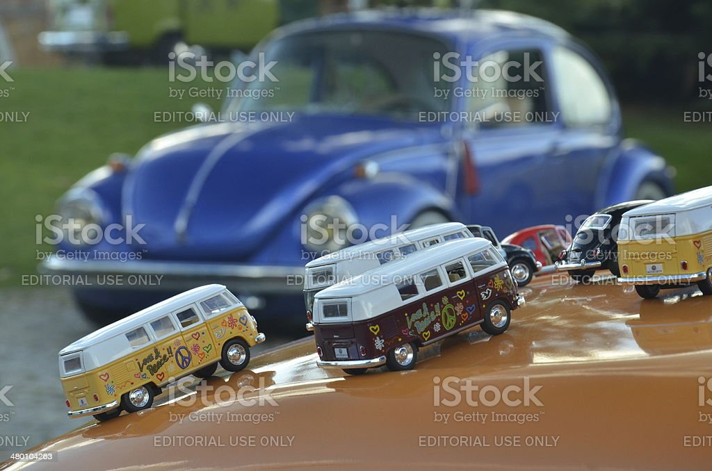 Toys of classical Volkswagen cars stock photo