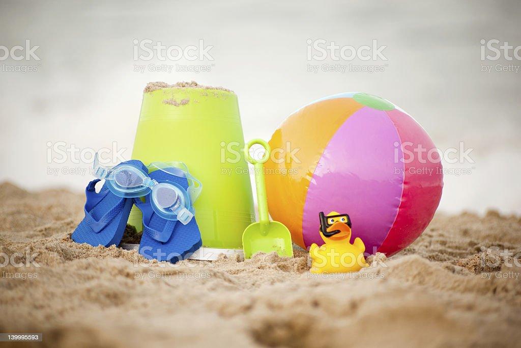 Toys on Virginia Beach stock photo