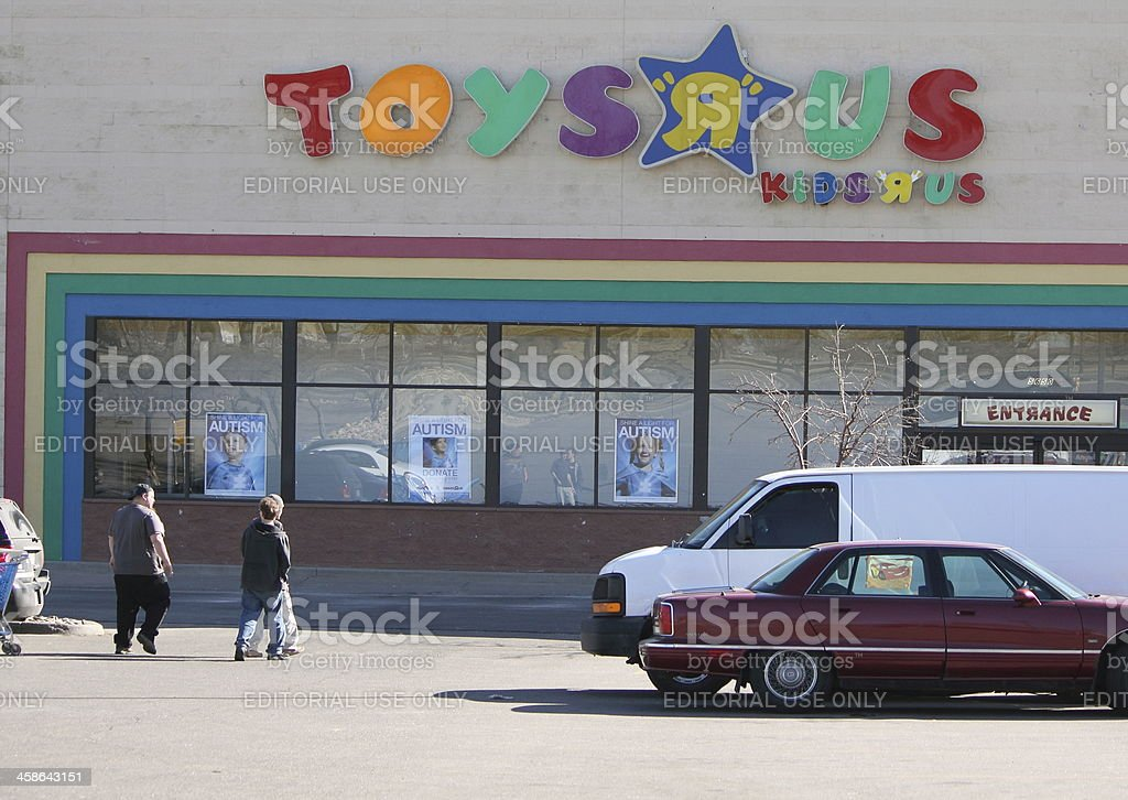Toys R Us Shoppers stock photo