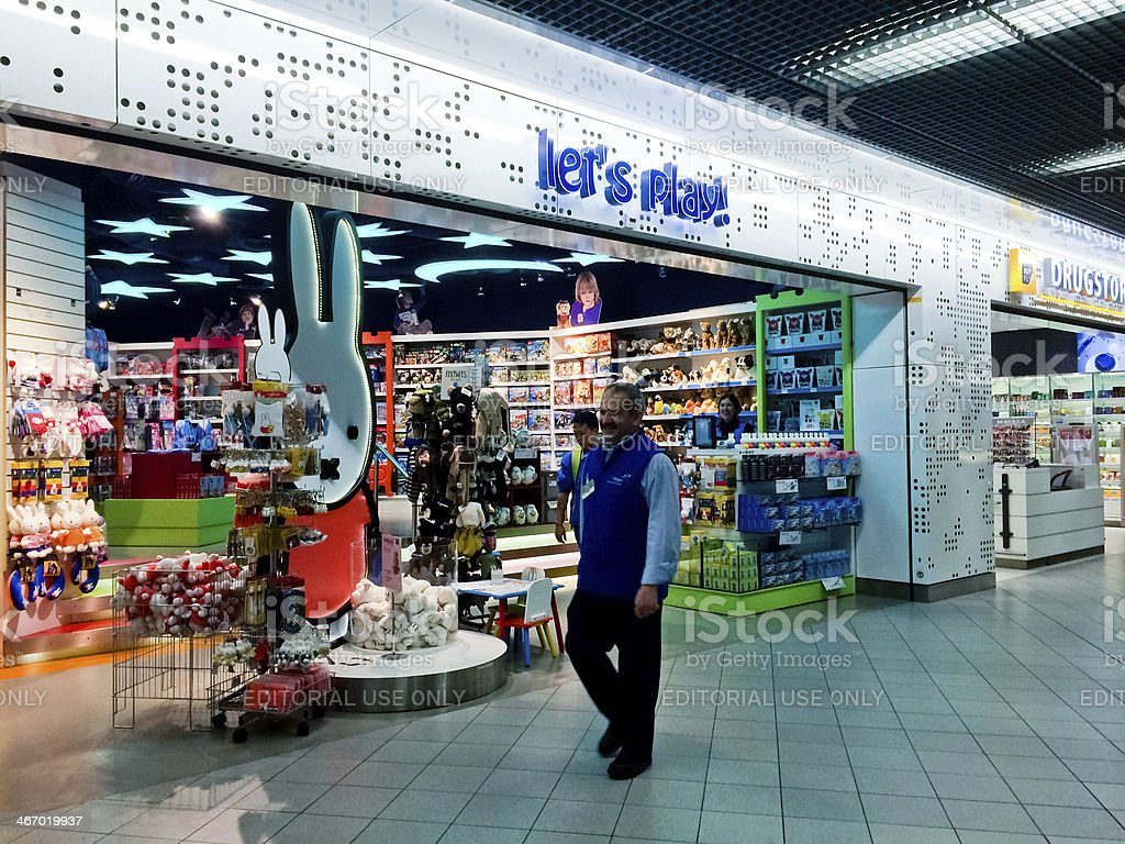 Toys Store at Amsterdam Airport Shiphol stock photo