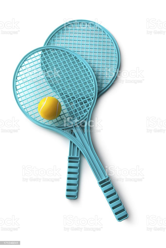 Toys: Tennis Rackets stock photo
