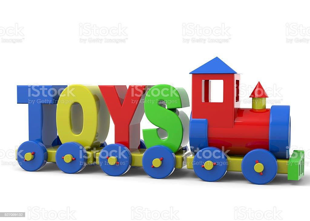 Toys Train - 3D stock photo