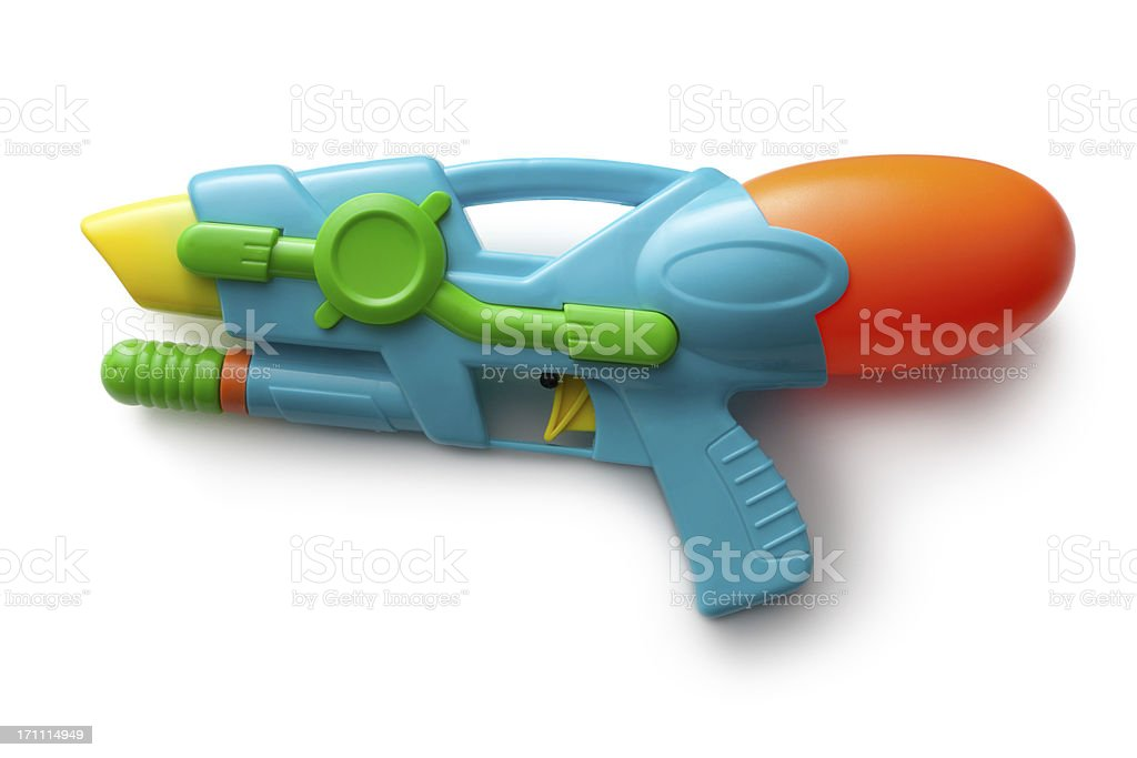 Toys: Watergun Isolated on White Background stock photo
