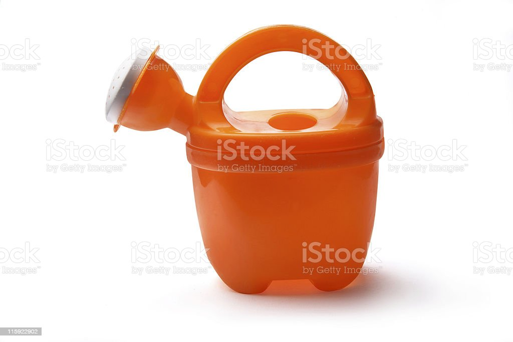 Toys: Watering Can Isolated on White Background stock photo