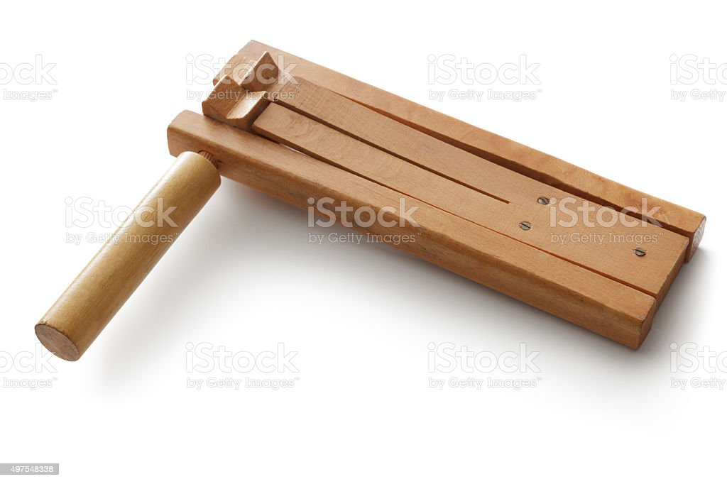Toys: Wooden Rattle stock photo