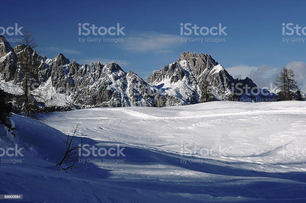 Tra terra e cielo invernale royalty-free stock photo