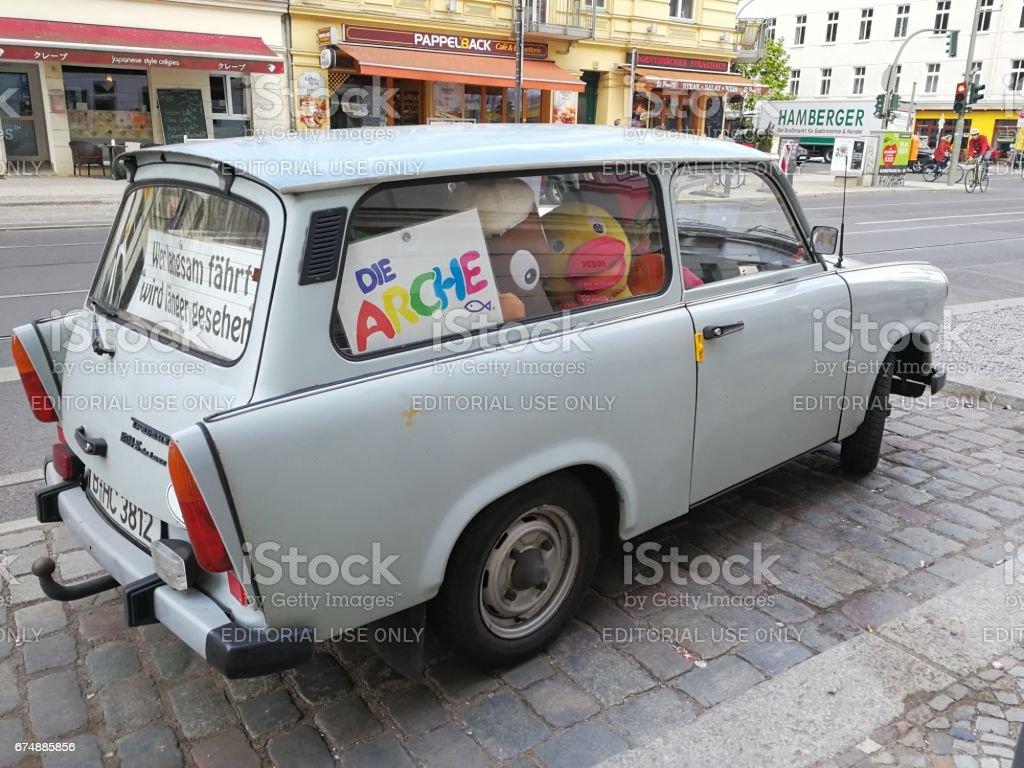 Berlin, Germany - April 27, 2017: Trabant 601s car stock photo