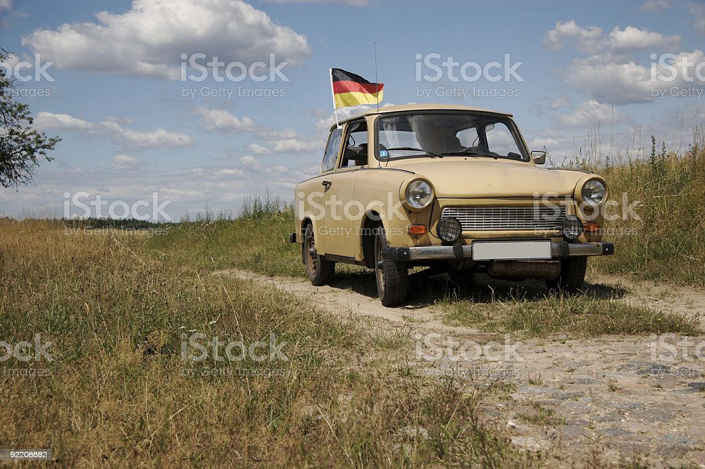 trabant, car from GDR, built 1986 stock photo