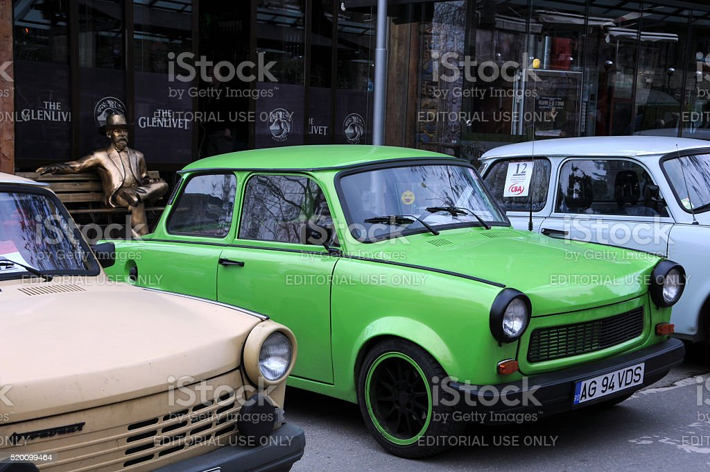 Trabant Cars in Veliko Tarnovo stock photo