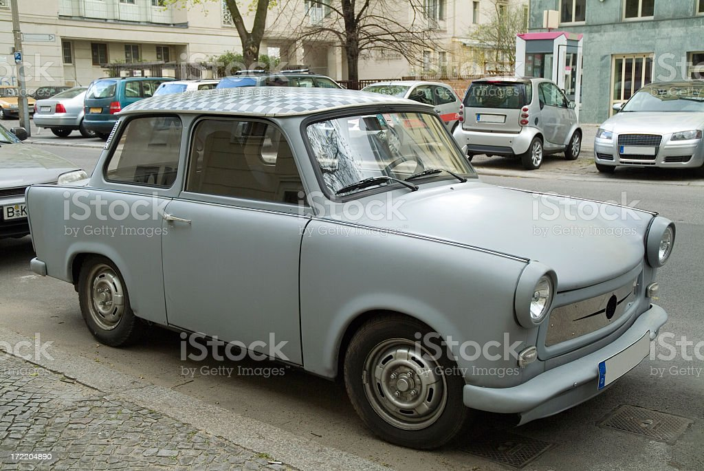 Trabant in former East Berlin 2 stock photo