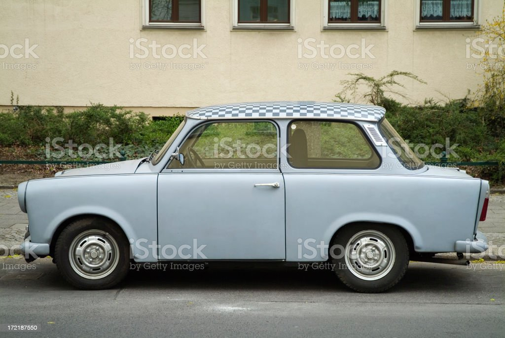 Trabant in former East Berlin stock photo