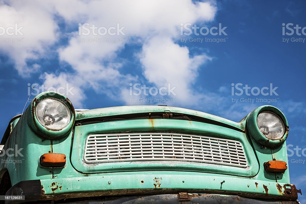 Trabant Vintage Car, Berlin, Germany stock photo