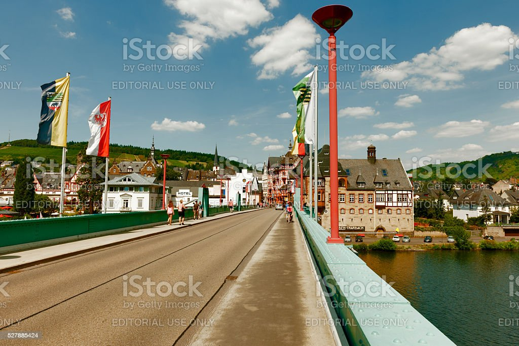 Traben-Trarbach on the Moselle stock photo