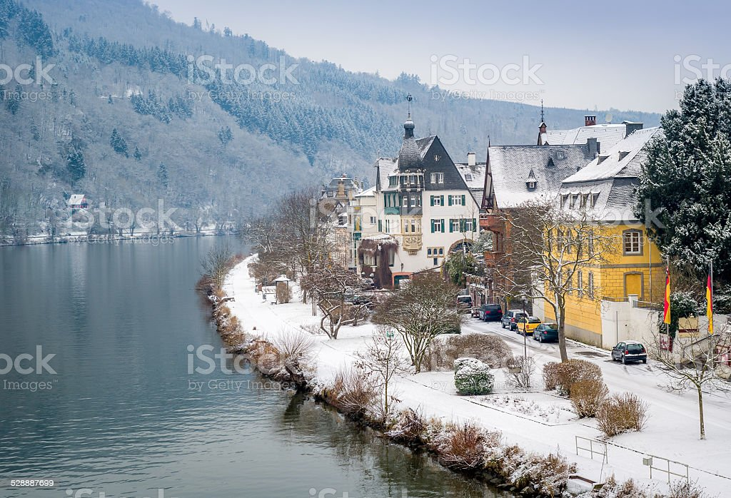 Traben-Trarbach village stock photo