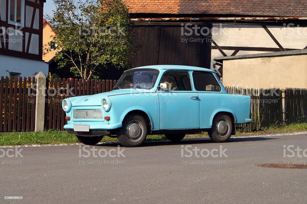 DDR Trabi Original Oldtimer stock photo