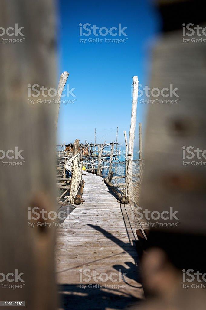 Trabocchi Coast stock photo