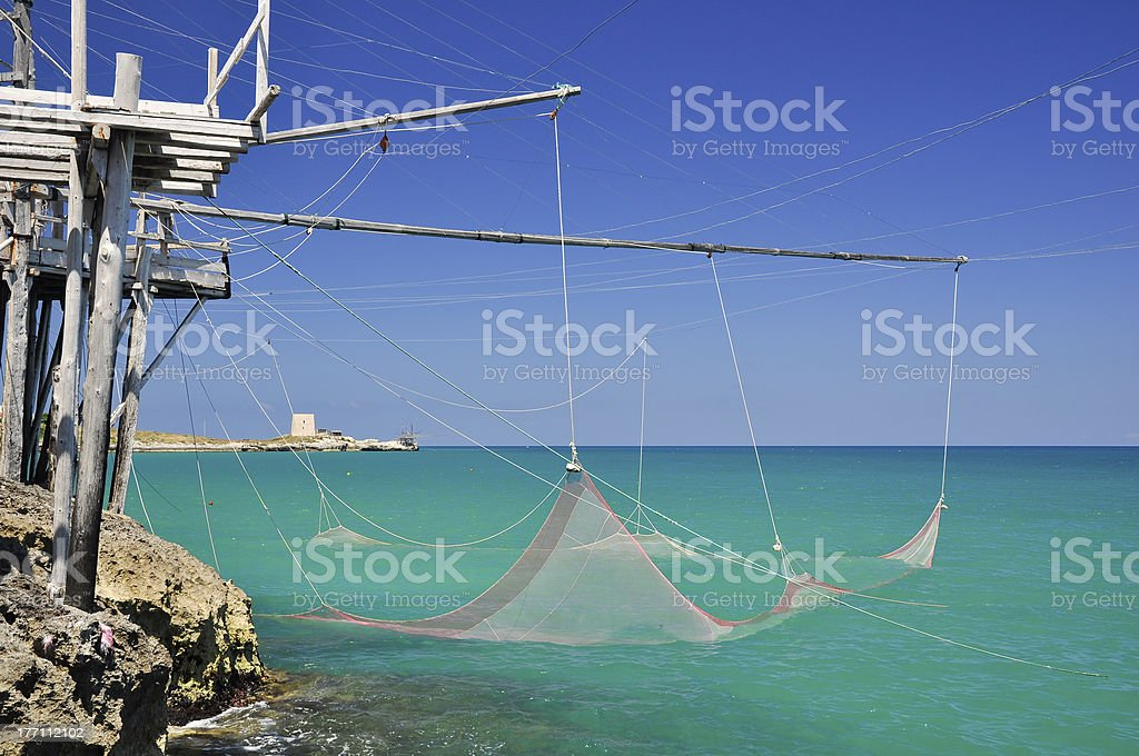 Trabucco, typical italian fishing machine. royalty-free stock photo