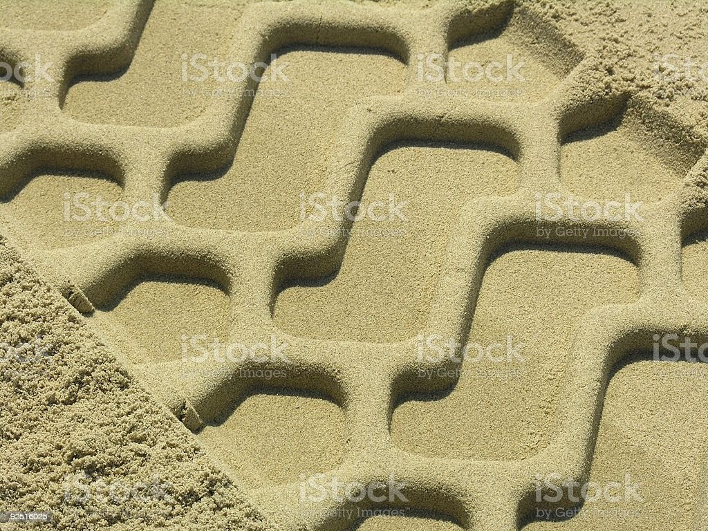 Trace in the sand royalty-free stock photo