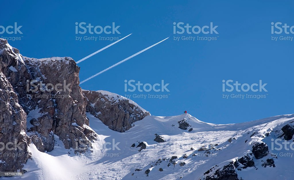 Trace in the sky royalty-free stock photo