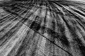 Traces of a braking on asphalt