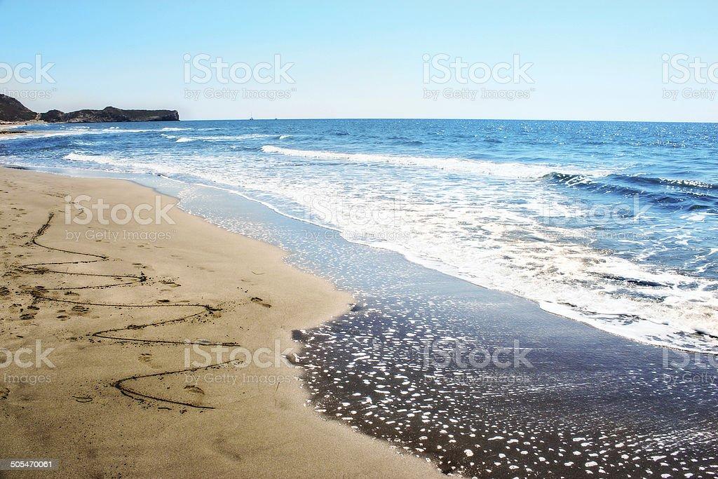 Окантовка на пляже Стоковые фото Стоковая фотография