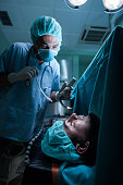 Tracheal intubation in operating room!