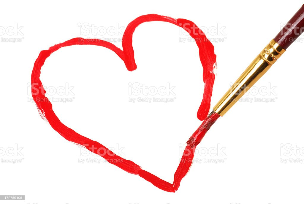 Tracing Heart royalty-free stock photo