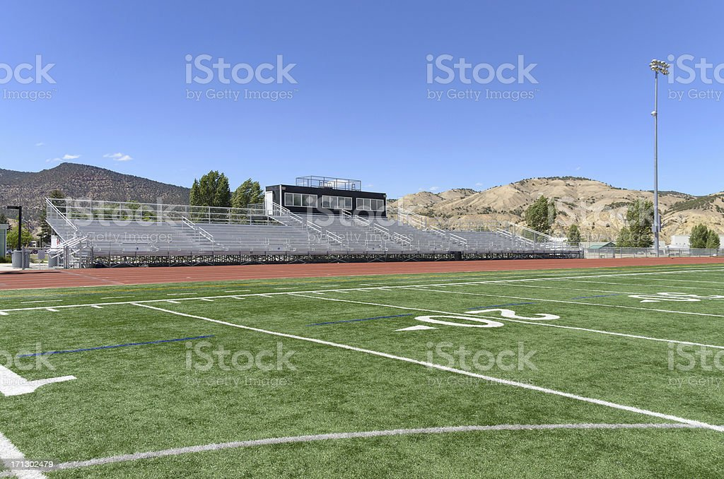 Track and Field at School Athletic Area stock photo