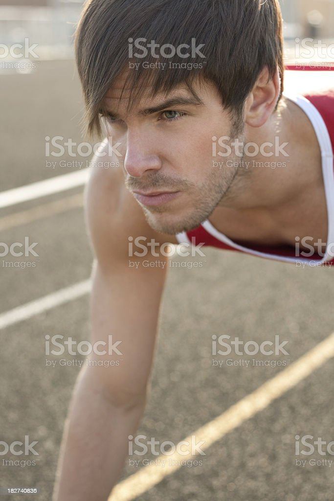 Track and Field Athlete royalty-free stock photo