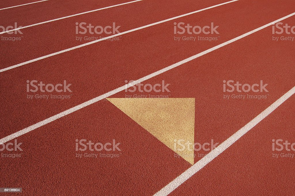 track and field close up stock photo