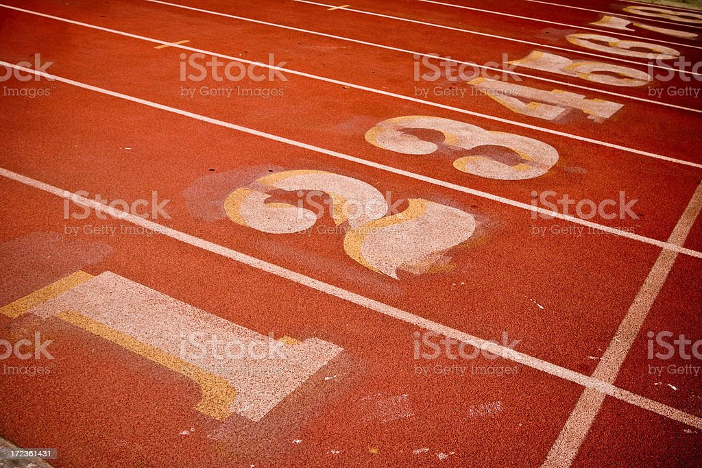 track and field numbers royalty-free stock photo