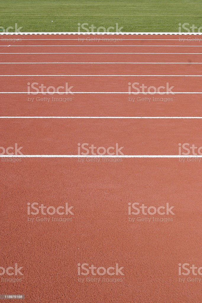 Track and field (hold the line) royalty-free stock photo