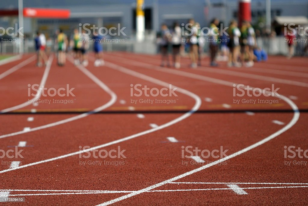 Track and field (warm up) stock photo