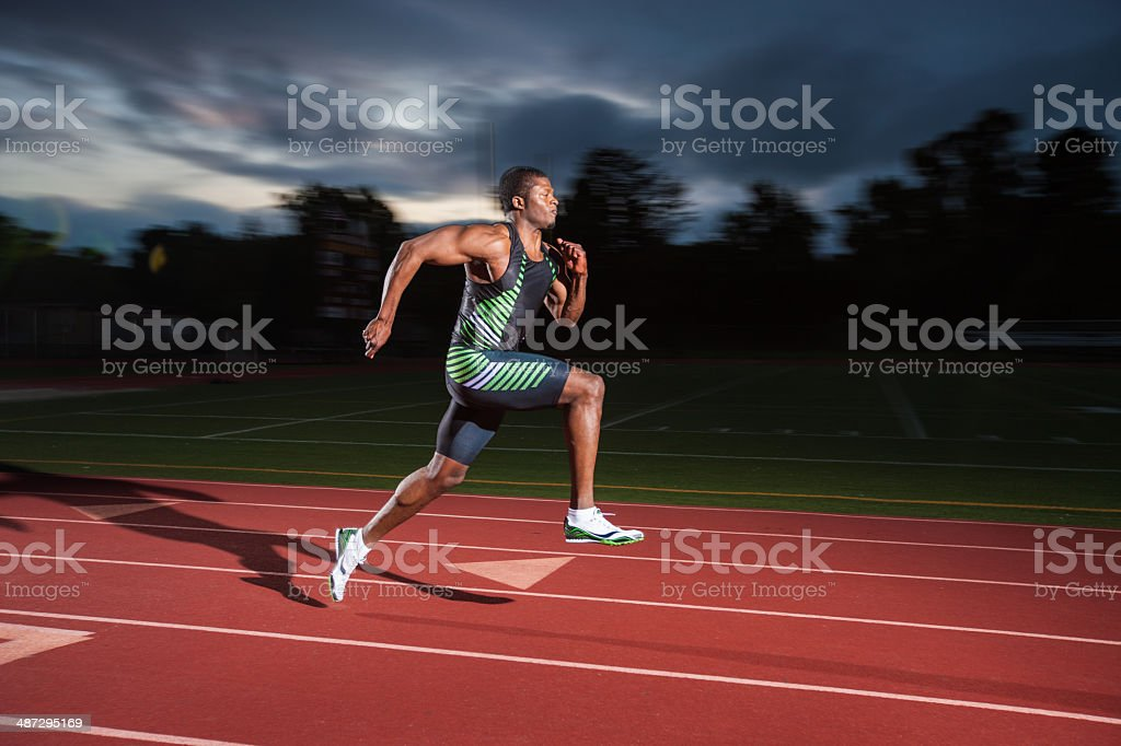 Track and Field Sprinter stock photo