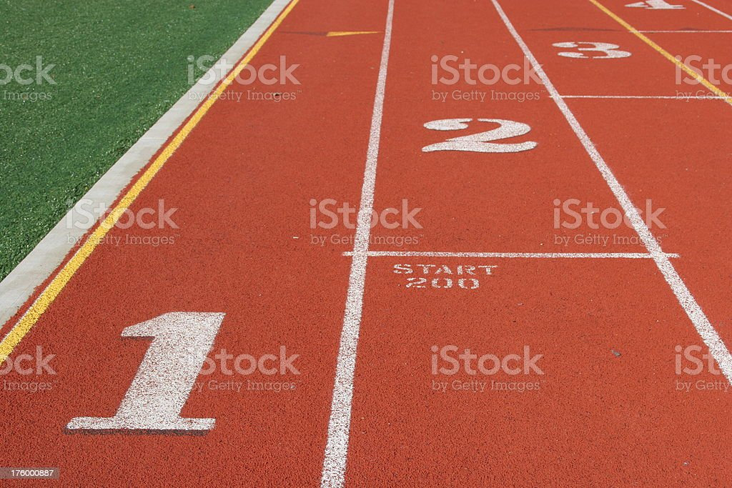 Track and field - start position royalty-free stock photo
