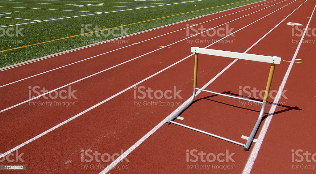 Track and Hurdle stock photo