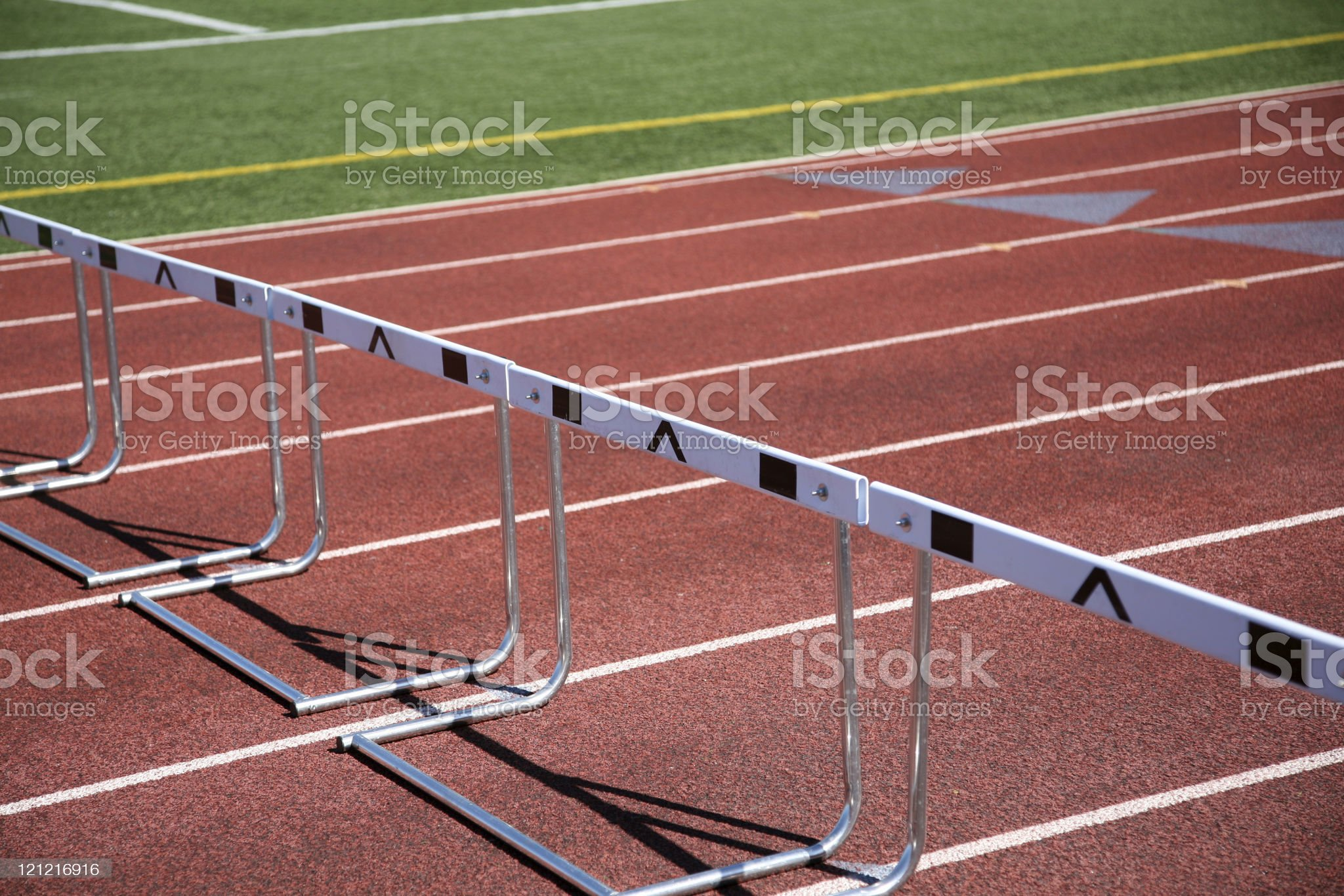 Track and Hurdles royalty-free stock photo