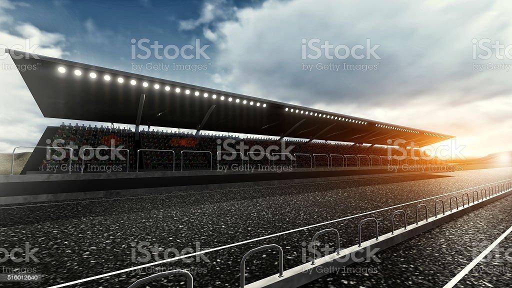 Track arena stock photo