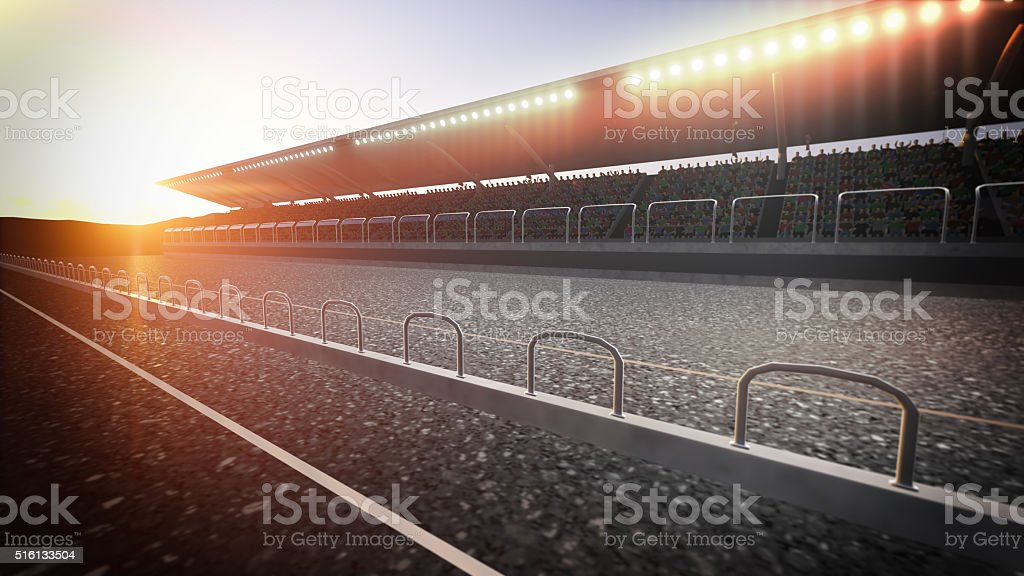 Track arena stock photo