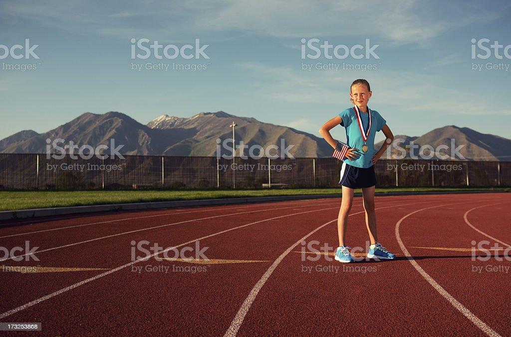 Track Champion royalty-free stock photo