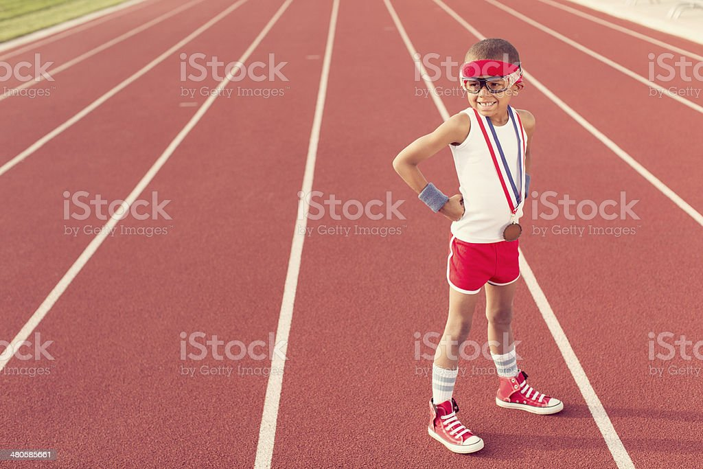 Track Champion stock photo