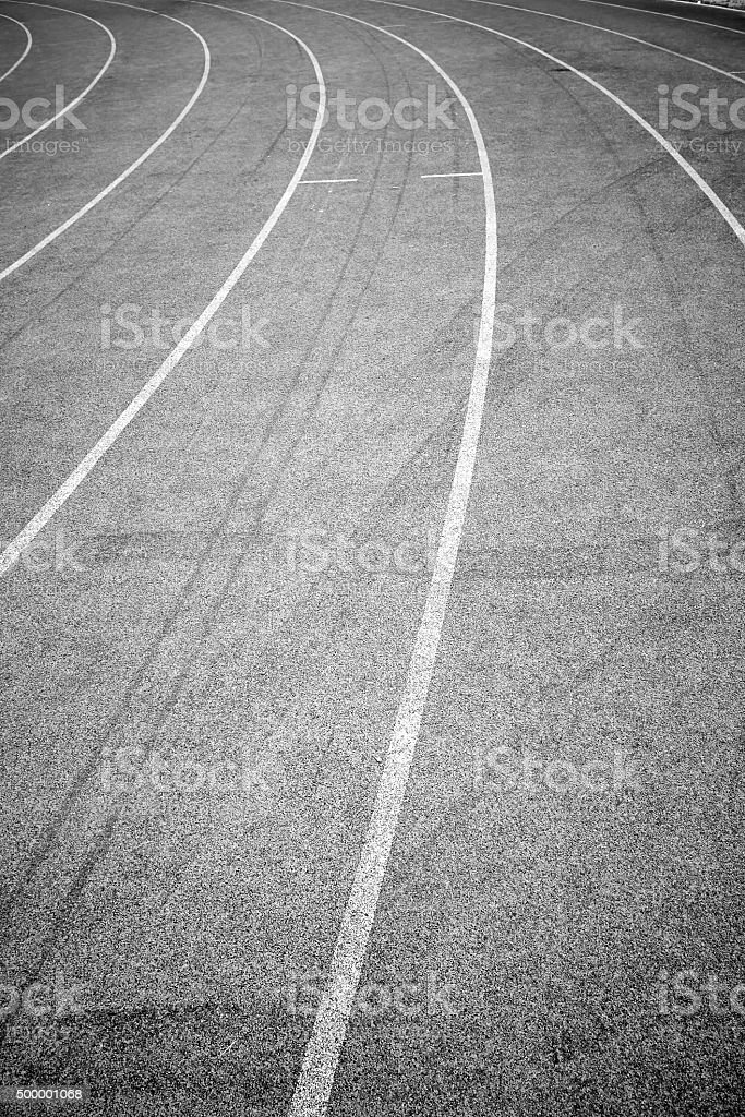 Track for Athlete stock photo