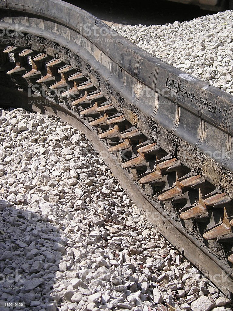Track from a track vehicle royalty-free stock photo