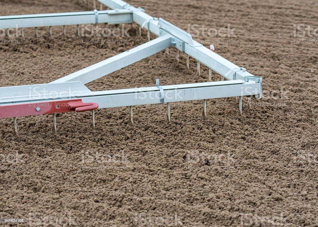 Track Harrow Close Up stock photo