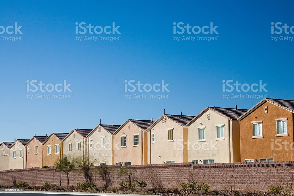 Track houses royalty-free stock photo