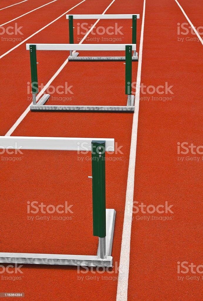 Track Hurdles royalty-free stock photo