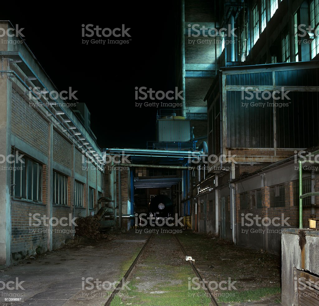 track in factory yard royalty-free stock photo