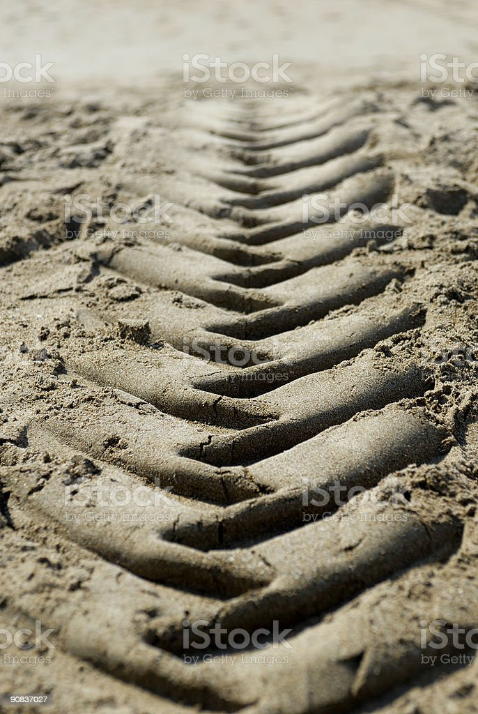 Track in sand royalty-free stock photo