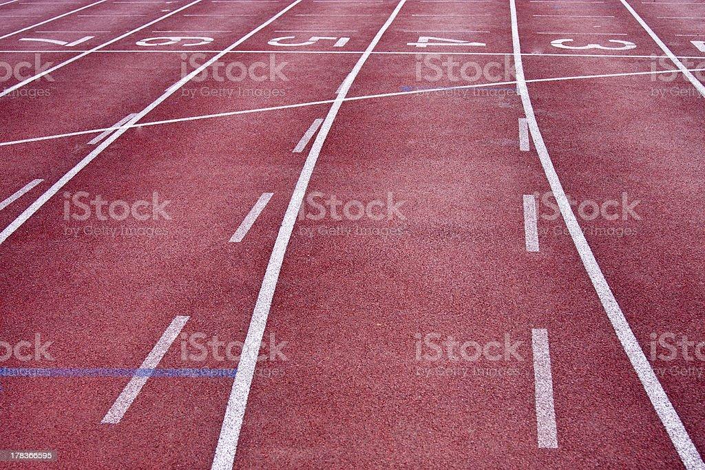 track lane stock photo