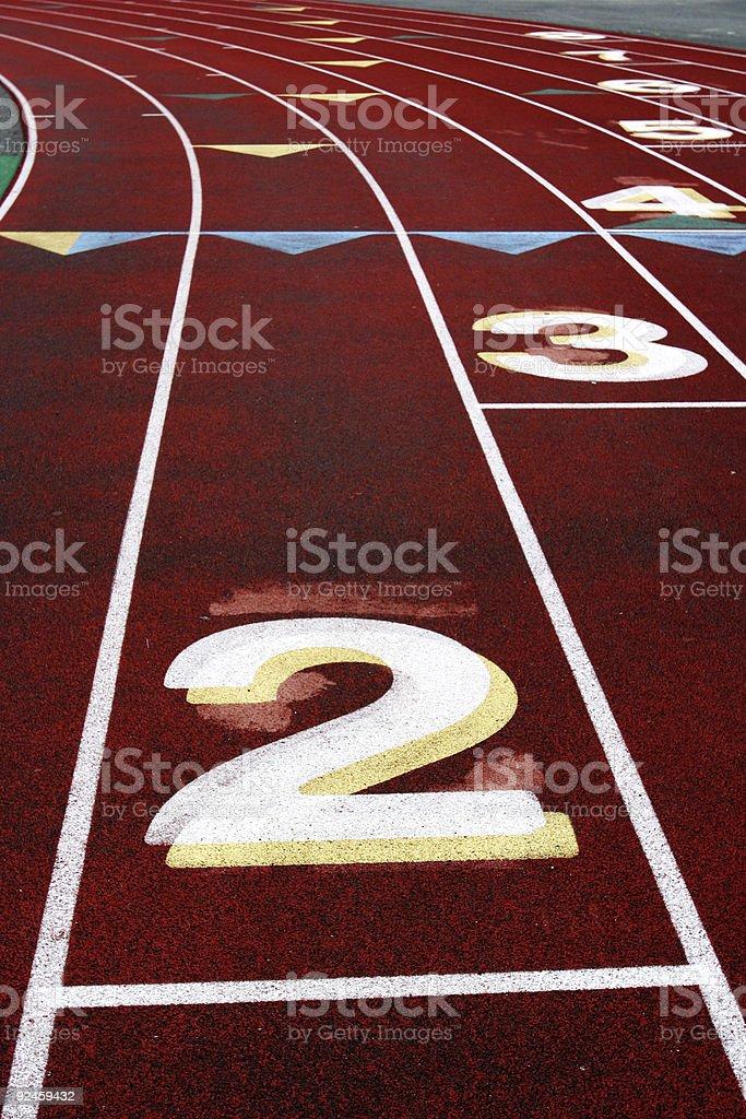 Track Lane #2 royalty-free stock photo